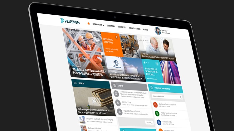 Inside Penspen: company-wide emails OUT, personalised intranet platform IN