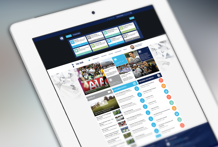 Tottenham Hotspur's Unily Intranet By Brightstarr on iPad