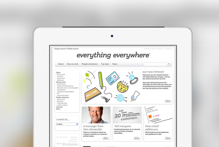 Intranet solution created by Brightstarr for Everything Everywhere (EE)