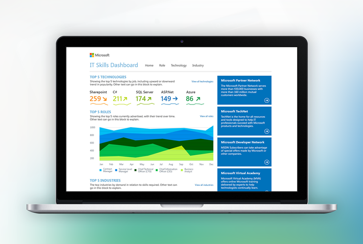 Microsoft's Business Intelligence Dashboard based on Sharepoint 2013