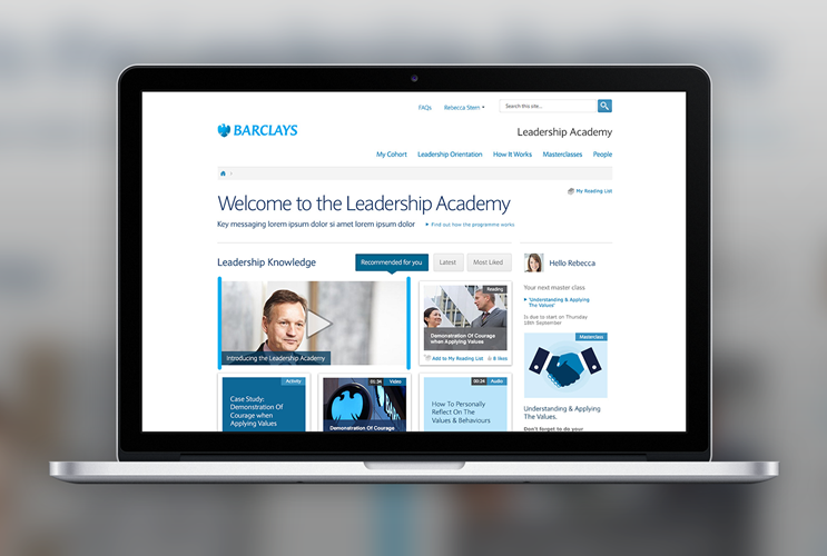 Barclays Leadership Academy powered by Unily Intranet